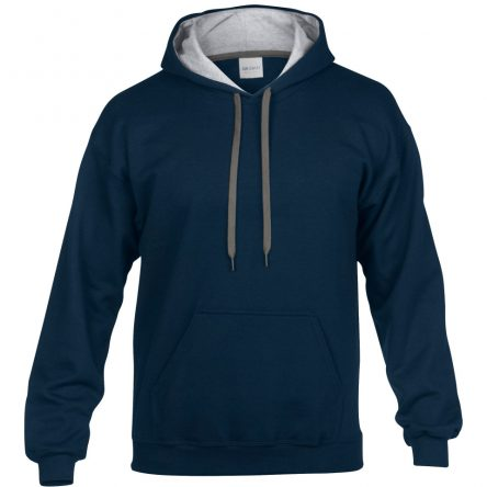 Gildan Men's Heavy Blend Contrast Hooded Sweatwhirt